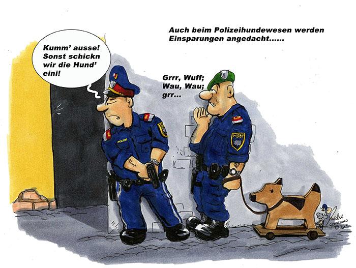 Cartoon des Monats – Juni 2013 Einsparungen bei den Hunden