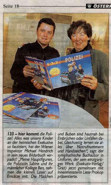 Kronen Zeitung | Michael Hendrich Polizeibilderbuch