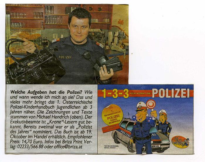 Kronen Zeitung | Michael Hendrich – Welche Aufgaben hat die Polizei?